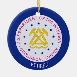 US Geological Survey Retired Ceramic Ornament