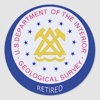 US Geological Survey Retired Classic Round Sticker