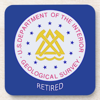 US Geological Survey Retired Drink Coaster