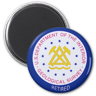 US Geological Survey Retired 2 Inch Round Magnet