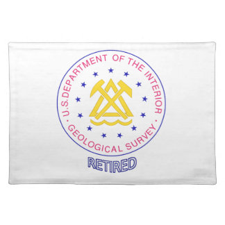 US Geological Survey Retired Cloth Place Mat