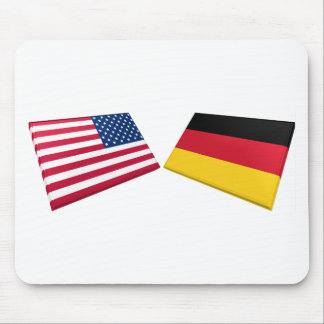 US & Germany Flags Mouse Pad