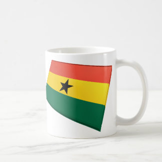 US & Ghana Flags Classic White Coffee Mug