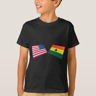 US & Ghana Flags T-Shirt