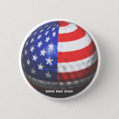US Golf Pinback Button