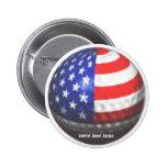 US Golf Pinback Buttons