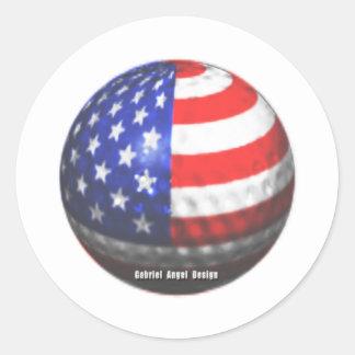 US Golf Round Stickers