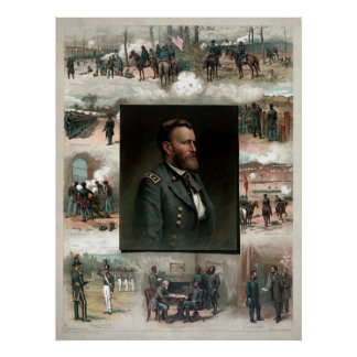 US Grant's Career In Pictures Poster