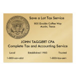 US Great Seal Half Dollar Business Card