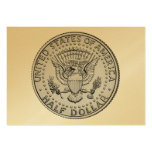 US Great Seal Half Dollar Business Card Templates
