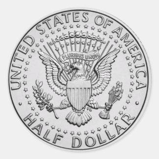 US Great Seal Half Dollar Classic Round Sticker