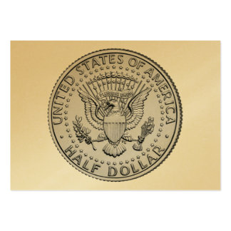 US Great Seal Half Dollar Large Business Cards (Pack Of 100)