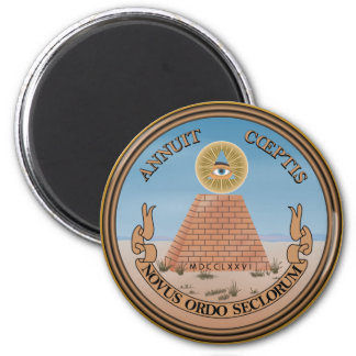 US Great Seal Obverse (Reverse) Side 2 Inch Round Magnet