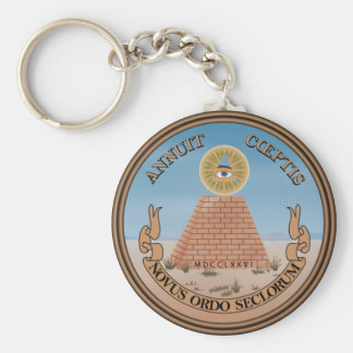 US Great Seal Obverse (Reverse) Side Basic Round Button Keychain