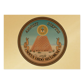US Great Seal Obverse (Reverse) Side Large Business Card