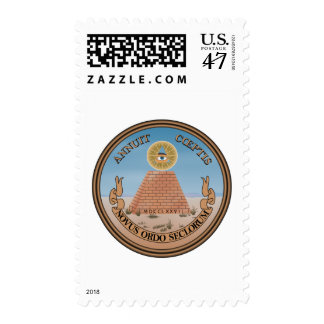 US Great Seal Obverse (Reverse) Side Postage Stamp