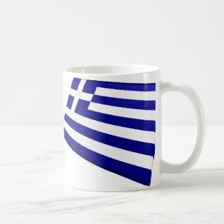 US & Greece Flags Coffee Mug