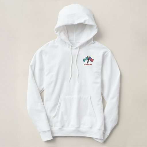 US-Guatemala Dual Flags Embroidered Hoodie