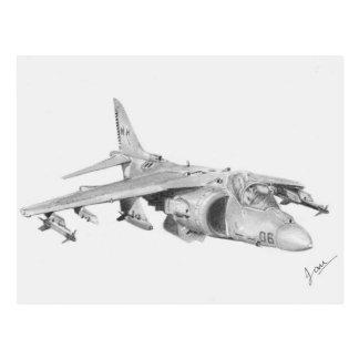 US Harrier Jet Postcard