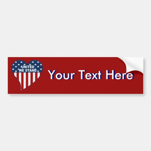 US Heart 2 Create Your Own Bumper Sticker