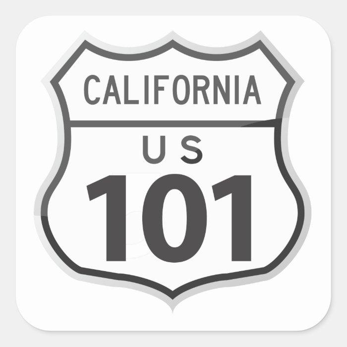 US Highway 101 California Road Trip Travel Sticker