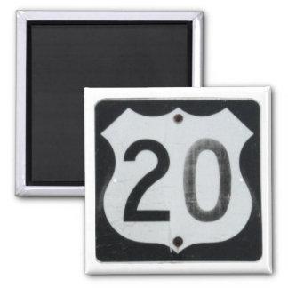 US Highway 20 Road Sign Magnet