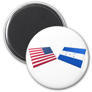 US & Honduras Flags Magnets