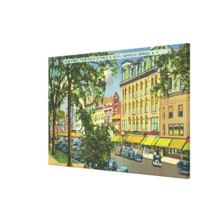 US Hotel Porch View of Main Street Canvas Print