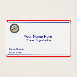 US House of Representatives Business Card