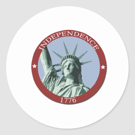 US Independence 1776 Statue of Liberty Classic Round Sticker