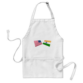 US & India Flags Aprons