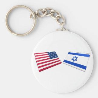 US & Israel Flags Key Chains