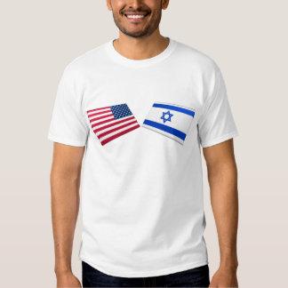 US & Israel Flags T Shirt