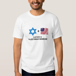 US Israeli genocide of the Palestinian people T-shirts