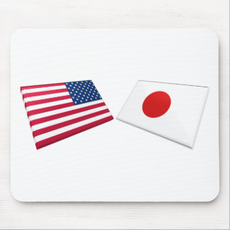 US & Japan Flags Mouse Pad