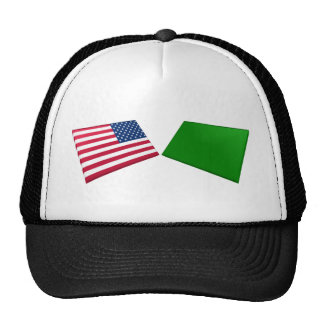 US & Libya Flags Trucker Hat