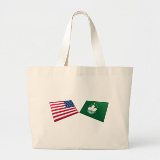 US & Macau Flags Bag
