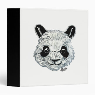US Made Hand Painted Toothpaste Panda Art Binder