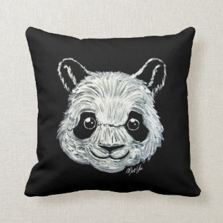 US Made Hand Painted Toothpaste Panda Throw Pillow