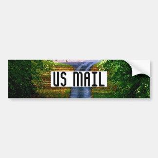 US MAIL bumper sticker