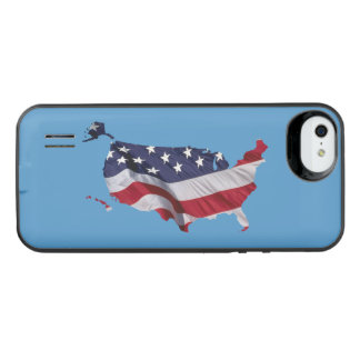 US Map American Flag iPhone SE/5/5s Battery Case