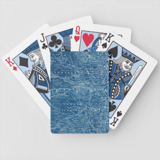 US Map Blueprint Bicycle Playing Cards