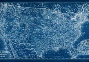 Map Of Usa Night Lights   Zazzle