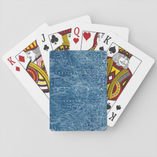 US Map Blueprint Playing Cards