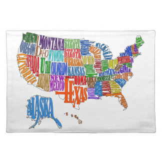 US MAP CLOTH PLACEMAT