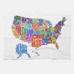 US MAP KITCHEN TOWEL