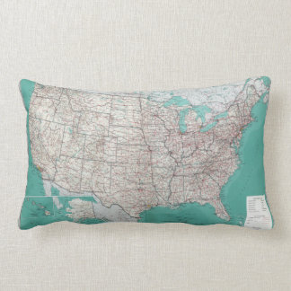 US Map Lumbar Pillow