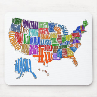 US MAP MOUSE PAD