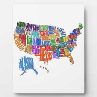 US MAP PHOTO PLAQUES