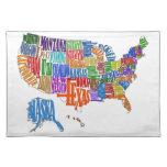 US MAP PLACE MAT